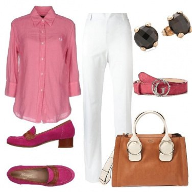 Outfit Mannish style declinato in rosa