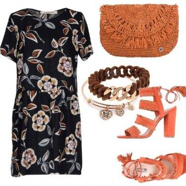 Outfit Marrone e arancio ruggine