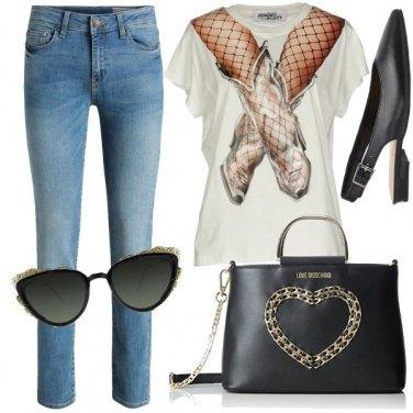 Outfit Jeans e maglietta