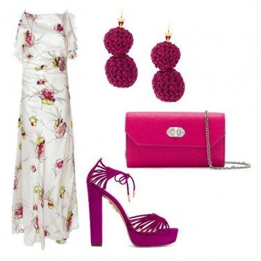 Outfit Glicine e panna