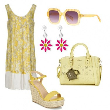 Outfit Giallo e colore