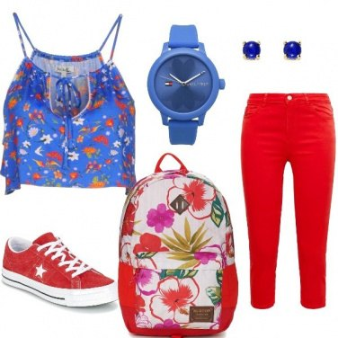 Outfit Red and blue