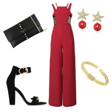 Outfit Jumpsuit red