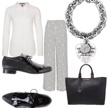 Outfit Ops bianco e nero