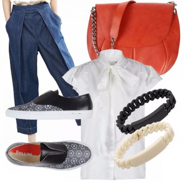 Outfit Bianco, nero e jeans!
