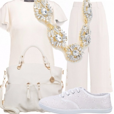 Outfit Bianco sporty chic