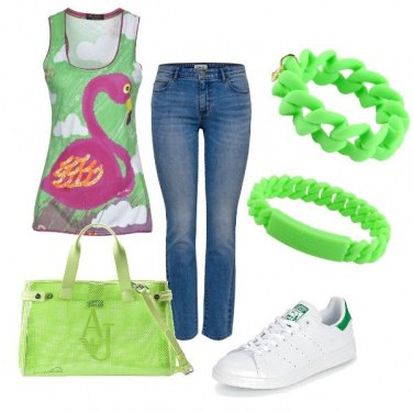 Outfit Verde fluo