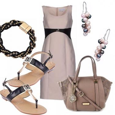 Outfit Infradito con abitino elegante