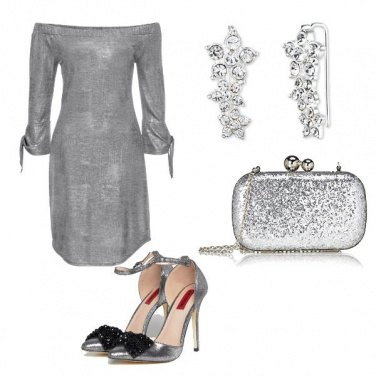Outfit Total silver