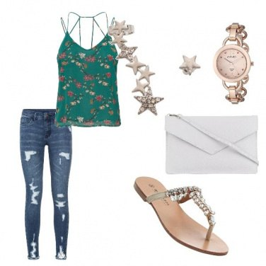Outfit In verde casual