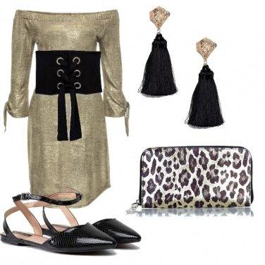 Outfit Scarpe flat e oro
