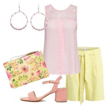 Outfit Bermuda giallo limone