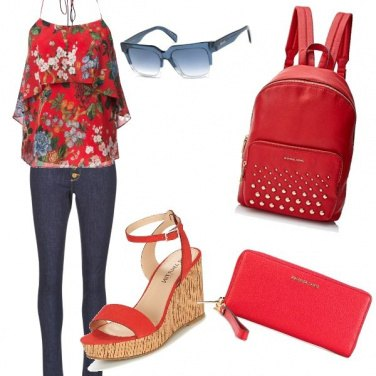 Outfit Zainetto rosso passion