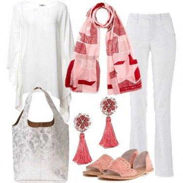 Outfit Delicata con tacco flat