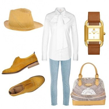 Outfit Giallo casual