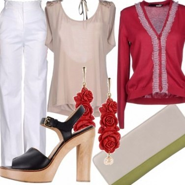Outfit Schegge di rosso