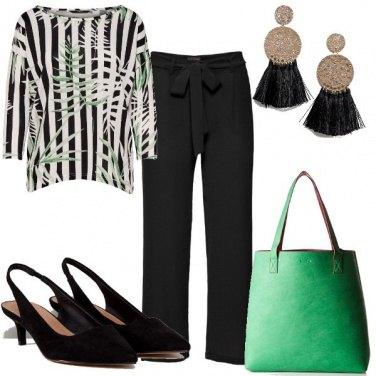Outfit Righe e foglie