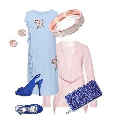 Outfit Celeste -Blu- Rosa