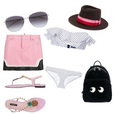Outfit Pink beach