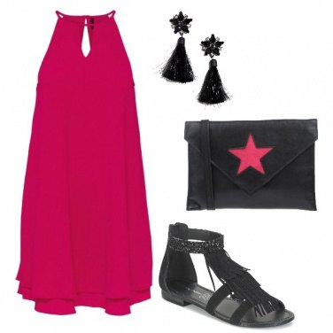 Outfit Fuchsia and black