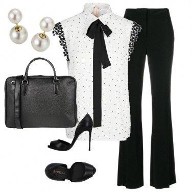 Outfit Ufficio black and white