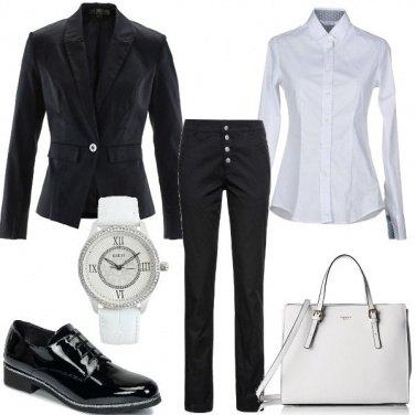 Outfit Bianco, nero e ...