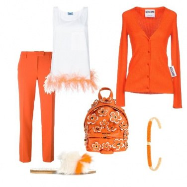 Outfit Azzardo arancione