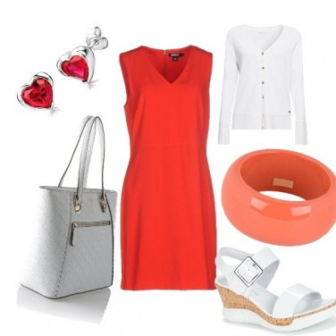 Outfit Red & white