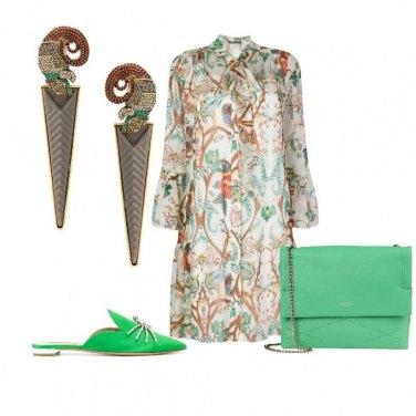 Outfit Verde smeraldo per le scarpe