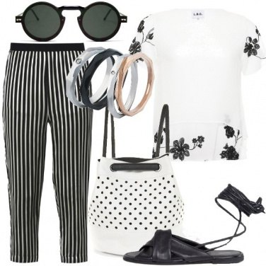 Outfit Mix and match bianco e nero