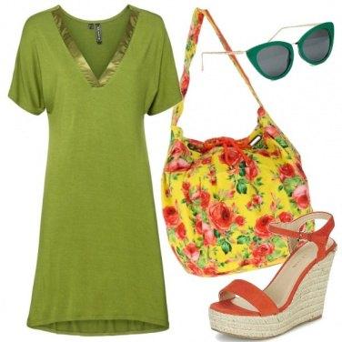 Outfit La borsa floreale