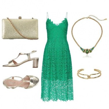 Outfit Green lace wedding