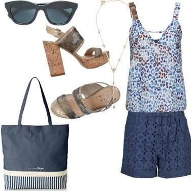 Outfit Casual in blu