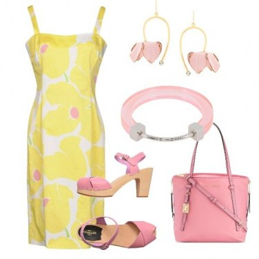 Outfit Yellow and rose