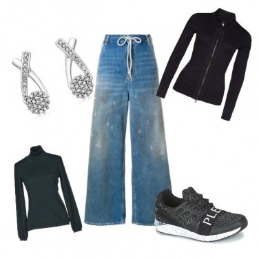 Outfit Jeans sporty chic