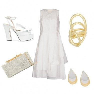 Outfit Oro e bianco