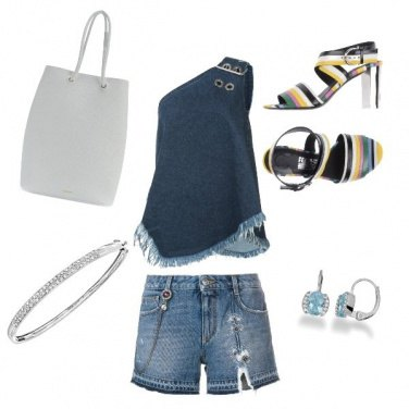 Outfit Jeans e righe