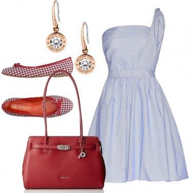 Outfit La petite robe bleue