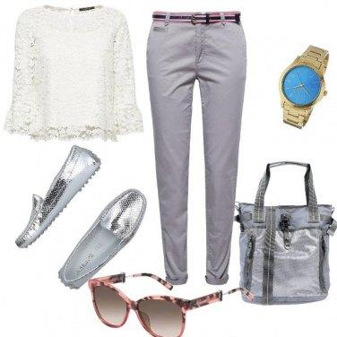 Outfit Trendy, argento con un tocco d\'oro