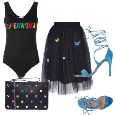 Outfit Superwoman in tulle