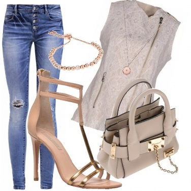 Outfit Casual nude look