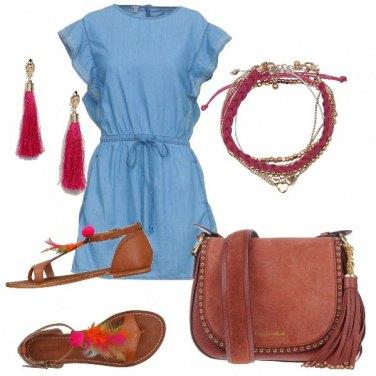 Outfit Un abitino azzurro