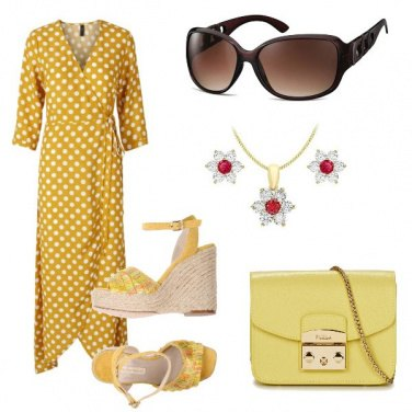 Outfit Pois e margherite