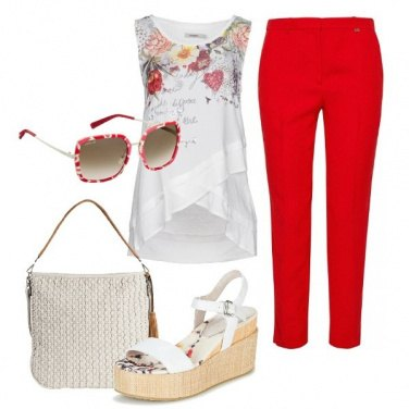 Outfit Rosso e bianco