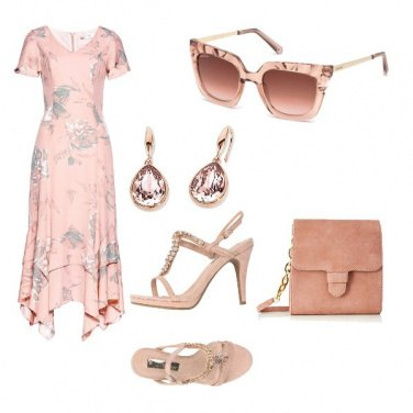 Outfit Total nude chic