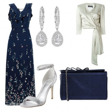 Outfit Blue e silver