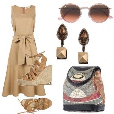 Outfit Fiocco e zeppa