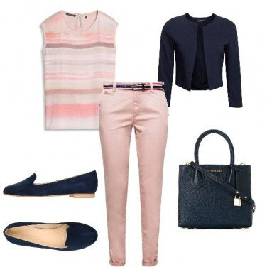 Outfit Rosa & Blu