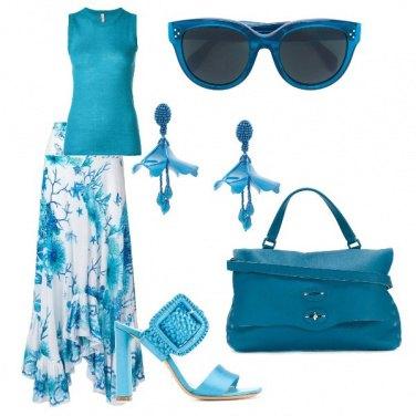 Outfit Sfumature di turchese