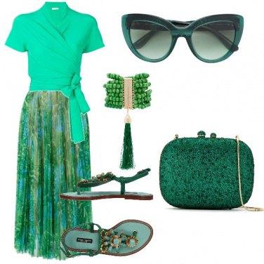 Outfit Bon ton smeraldo